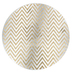 Gold Glitter Chevron Candle Plate